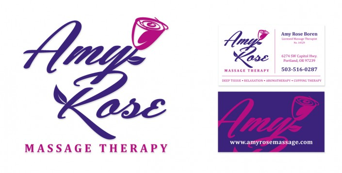 Logos: Amy Rose Massage Therapy