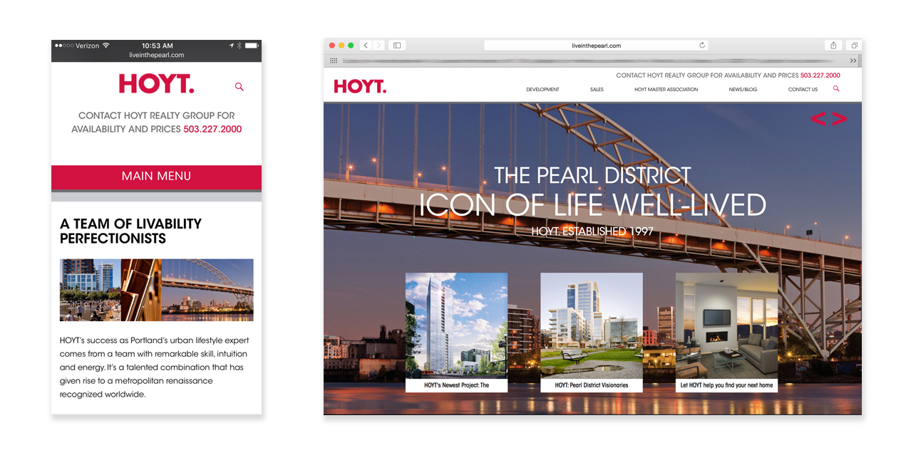 Real Estate Developers: HOYT Realty Group Website